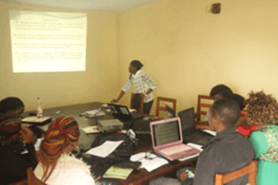 Conservation Trainees Tested in Reporting Skills